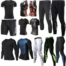 Gym Fashion Mens Fitness Sport Compression Tights Long Pants Tank Tops T-Shirts