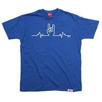 Rock Heartbeat Pulse Metal Hand T-SHIRT band music heavy funny birthday gift
