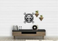 One Piece Flag Logo Anime Inspired Design Wall Art Decal Vinyl Sticker