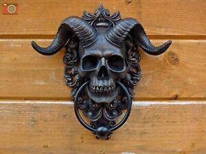 DIABOLUS DOOR KNOCKER. Horned Skull Devil Baphomet, Occult Gothic Gift, Nemesis