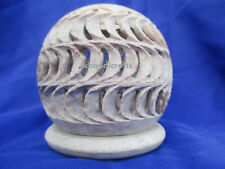 """3"""" Marble Round Tea Light Candle Stand Candle Holder Filigree Home Decor"""