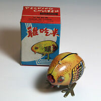 Vintage PECKING CHICKEN WIND UP Tin Toy / China,NIB MS006