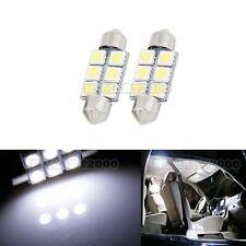 2PCS Cool White 36mm 6SMD LED bulbs - Interior Dome 3425 6413 6418  DE3425