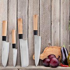 Sushi Knife Set 4 Pcs Chef Stainless Steel Japanese Kitchen Sashimi Cutlery Pack