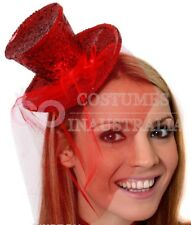Ladies Fever Mini Top Hat Headband 20s Fancy Dress Women Costume Accessory