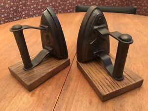 Rare Pair Of Antique Cast Iron Bookends Look Amazing