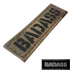 Bad@ss infrared IR name tape tab multicam tactical morale laser hook patch