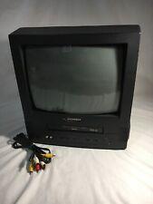"SYLVANIA 13"" TV/VCR Combo 4 Head VHS Player Black Model SSC130B Gaming New A/V"