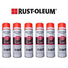 Rust-Oleum Survey Grade Fluorescent Orange Inverted Marking Paint (6 Cans)