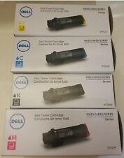 4 x Original Toner Dell H625 H825 S2825/N7dwf P3hjk 3p7c4 5pg7p Cartridge Set