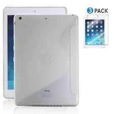Apple iPad Air Case / iPad 5 S-Sharp Back TPU Cover+3pcs Clear Screen Protector
