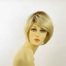 Perruque femme courte méchée blond racine blond foncé LANA YS