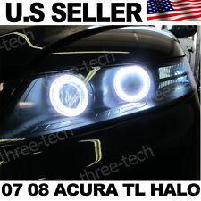 07 08 Acura TL TL-S Halo Rings x4 Angel Eye 6000k DRL OEM Headlight JDM Style