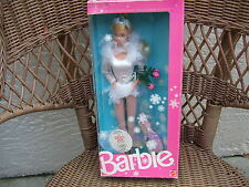 1988 Calgary Olympic Official Skating Star Poupee Barbie Foreign  NRFB MIB