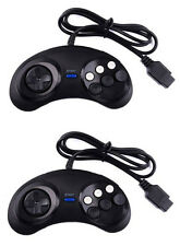 MM® 2x 6 Button Controller Pad Gamepad For Sega Mega Drive Genesis Master System