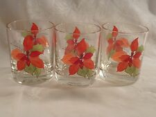 Blok Spal Poinsettia Old Fashioned Glasses - Set of 3