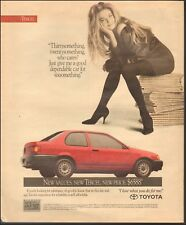 1991 Print Ad for Toyota Tercel`retro car Red Price Sexy Model      012719