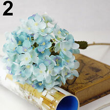 IK- Faux Artificial Silk Floral Flower Bouquet Hydrangea Wedding Party Decor Nov