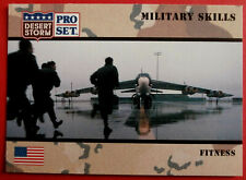 DESERT STORM - Card #158 - Military Skill: FITNESS - Pro-Set 1991