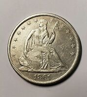1861-O Seated Liberty Half Dollar Almost Uncirculated Details
