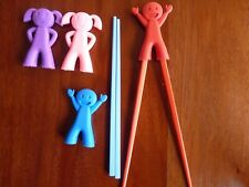 CHILDRENS CHOP STICKS - LITTLE PEOPLE RUBBER - GIRL OR BOY