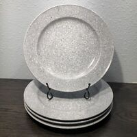 "Set of 4 Mikasa Ultrastone Gray Dinner Plate 11 1/8"" CU726 Retired Pattern Japan"