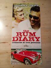 THE RUM DIARY Locandina Film 33x70 Poster Originale Cinema