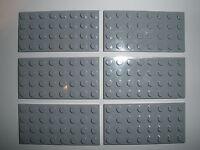 LEGO STAR WARS / BASICS   6 hellgraue  Bauplatten 4x8 Noppen  NEUWARE