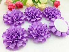 DIY 5/25/50pcs satin ribbon big Peony Flower Appliques/craft/Wedding decoration