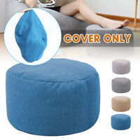 🔥New Bean Bag Cover Ottoman Footstool Round Stool Chair Cover Withou