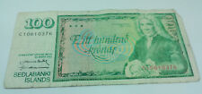 1961 ICELAND REPUBLIC CENTRAL BANK SEDLABANKI ISLANDS 100 KRONUR BANKNOTE CIRC