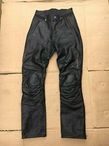 "HEIN GERICKE Ladies Leather Motorcycle Trousers UK 10 =  27""- 28"" waist (CB34#6)"