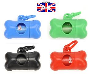 Dog Poo Bag Holder Dispenser Includes 30 Bags - Multi Colours.