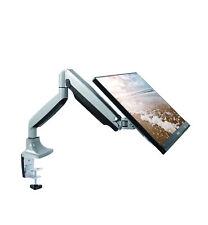 TechOrbits Single Monitor Mount Stand - Computer Screen Desk Gas Spring Arm