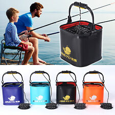 Outdoor Camping Fishing Folding Bucket Collapsible Container Water Storage New !