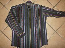 vtg 90s PLAINSMEN WESTERN SHIRT Cowboy Southwestern Black Purple Diamond Stripe