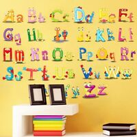 Alphabet ABC Wandsticker Wandtattoo Kinder Aufkleber Buchstaben Wandaufklebe Neu