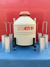 Mve Xc 4711 Cryogenic Storage Liquid Nitrogen Dewar Container 6 Canisters Usa