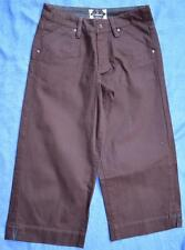 COLORADO 3/4 LENGTH PANTS. Size 8. BROWN. NEW. Stretch
