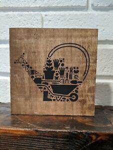 Wood sign | Watering Can | Spring | Garden | Repurposed Wood