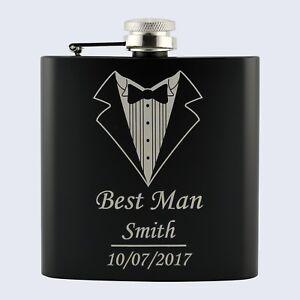 Personalised Stag Do Best Man Groom Wedding 6oz Drinks Beverage Hip Flask