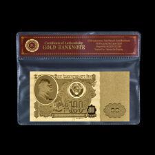 WR Sowjet Union Russland CCCP 100 Rubel Gold Banknote 1961 Lenin Kreml Note COA