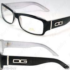 New DG Eyewear Clear Lens Frame Glasses Designer Mens Womens Black White Fashion