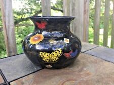 HANDMADE One of a KIND Butterfly Inlay Glass Vase by Vision Designs D Lewis ❤️J8