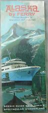 1960's Alaska by Ferry vintage travel tourist brochure and map b