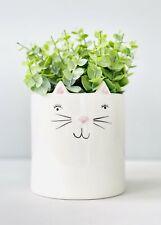 Ceramic Kitty Cat Pot Planter Animal Design Pots Indoor Plant Container 10x12cm