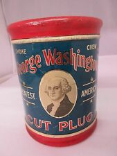 VINTAGE ADVERTISING TOBACCO GEORGE WASHINGTON CANISTER EXC COND   TIN 547-G