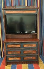 Disney's Wilderness Lodge Dresser TV Hutch Combo Prop Old Hickory Furniture Co