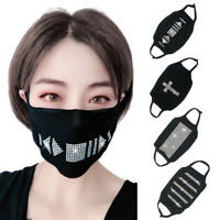 Women Rhinestone Haze Proof Breathable Protective Mask Face Mouth Cover Cheap