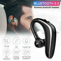 Bluetooth 5.0 Handsfree Headset Business Earphone for iPhone Samsung Huawei iOS